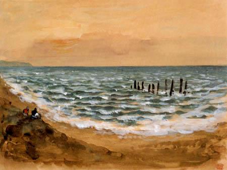 Eugene Delacroix - El Mar cerca de Dieppe