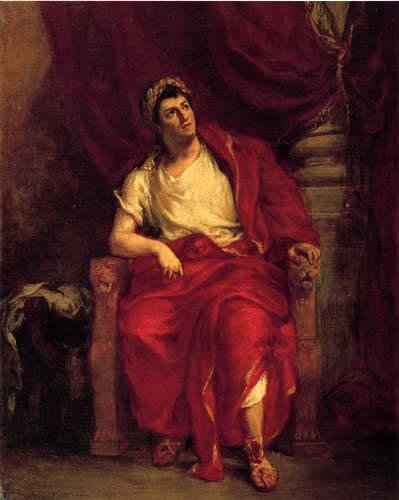 Eugene Delacroix - Talma als Nero in 'Britannicus'