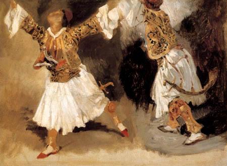 Eugene Delacroix - Men in Greek clothing