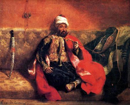 Eugene Delacroix - Smoking Turk on a sofa