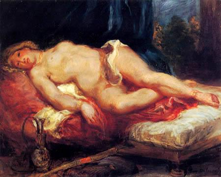 Eugene Delacroix - Odaliske auf einem Diwan