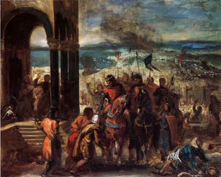 Eugene Delacroix - Einzug der Kreuzfahrer in Konstantinopel