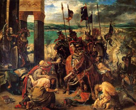 Eugene Delacroix - Die Eroberung Konstantinopels durch Kreuzfahrer