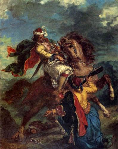 Eugene Delacroix - Der Kampf eines Türken mit einem Griechen