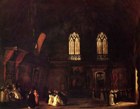 Eugene Delacroix - Melmoth- Das Innere eines Dominikanerklosters