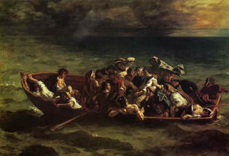 Eugene Delacroix - The shipwreck of the Don Juan
