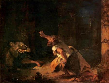 Eugene Delacroix - A Prisoner of Chillon