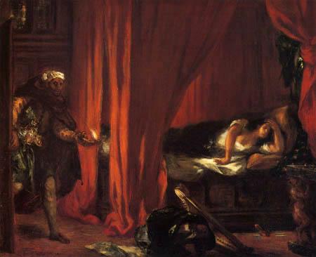 Eugene Delacroix - Othello und Desdemona