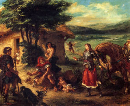 Eugene Delacroix - Hermione with the shepherds