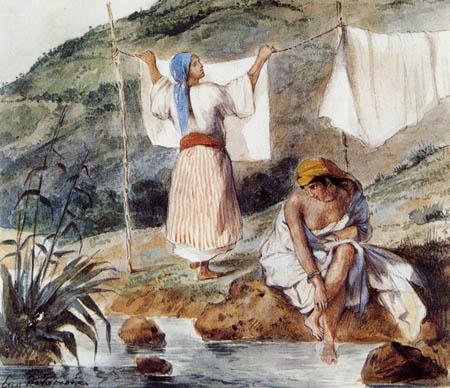 Eugene Delacroix - Maurische Frauen beim Waschen