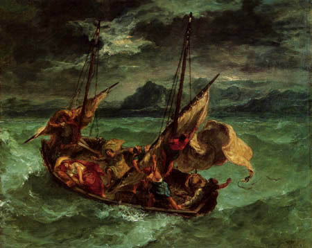 Eugene Delacroix - Christ on the Sea of Genneseret