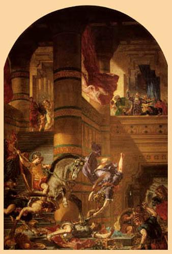 Eugene Delacroix - Die Vertreibung Heliodors aus dem Tempel