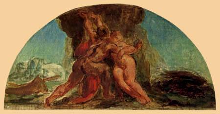 Eugene Delacroix - Herakles und Hesione