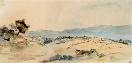Eugene Delacroix - Moroccan landscape