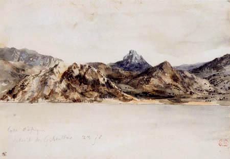 Eugene Delacroix - The African coast