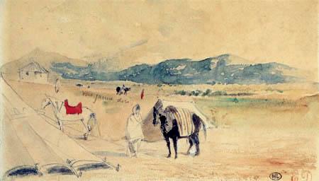 Eugene Delacroix - Zwischen Tanger und Miknas