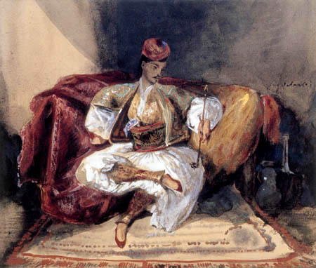 Eugene Delacroix - Man from the Orient with hookah