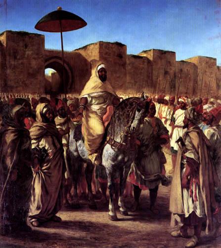 Eugene Delacroix - The Sultan Mulay Abd al-Rahman