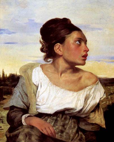 Eugene Delacroix - Junge Waise auf dem Friedhof