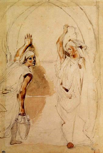Eugene Delacroix - Two woman