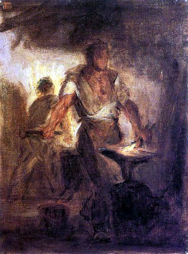 Eugene Delacroix - A blacksmith