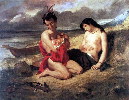 Eugene Delacroix - Les Natchez