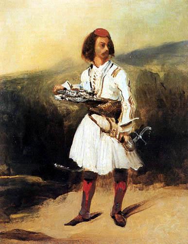 Eugene Delacroix - Ein griechischer Offizier