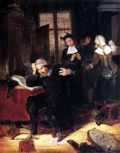 Eugene Delacroix - Don Quijote in seiner Bibliothek