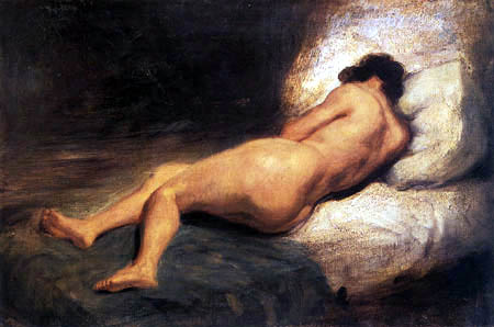 Eugene Delacroix - A Reclining Nude