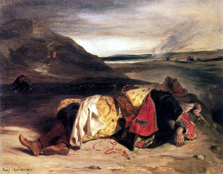 Eugene Delacroix - The death of Hassan