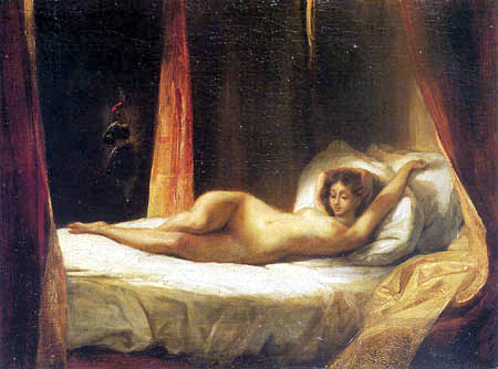Eugene Delacroix - A Reclining Woman