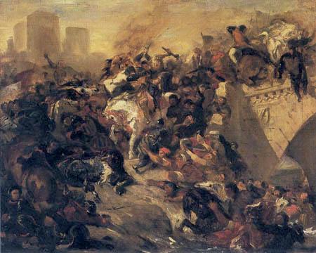 Eugene Delacroix - Battle of Taillebourg
