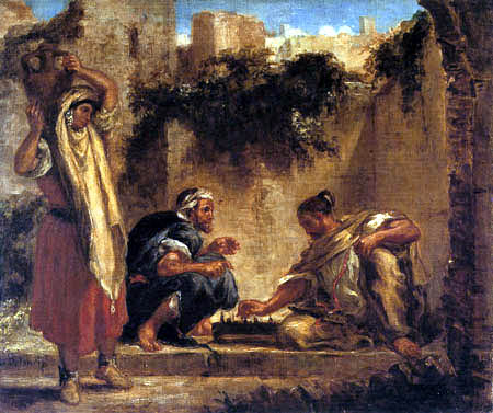 Eugene Delacroix - Arabs playing chess