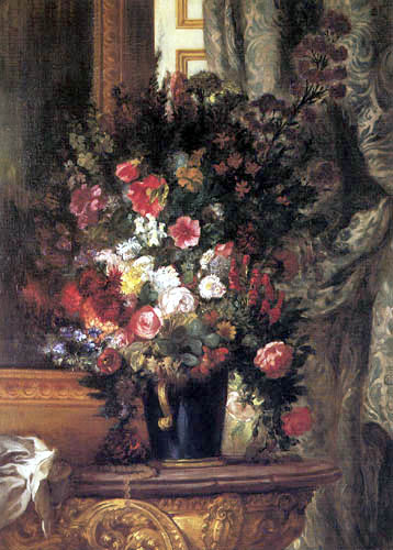 Eugene Delacroix - Blumen in blauer Vase