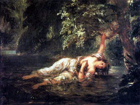 Eugene Delacroix - The death of Ophelia