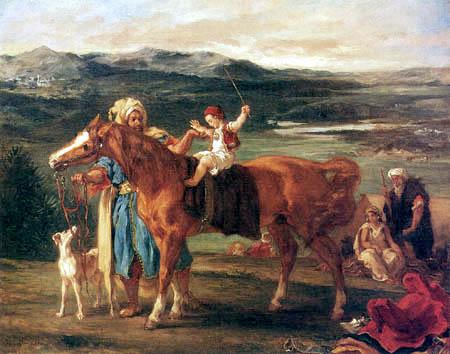 Eugene Delacroix - Riding hour