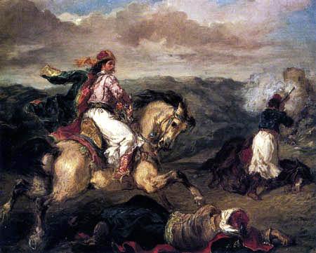 Eugene Delacroix - The war between Turks and Greeks