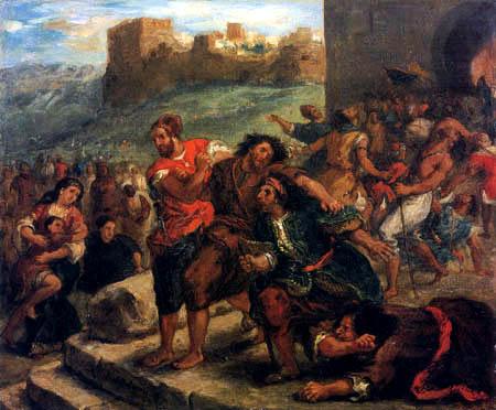 Eugene Delacroix - Fanatics of Tangier