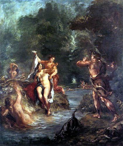 Eugene Delacroix - Diana and Actaeon, Summer