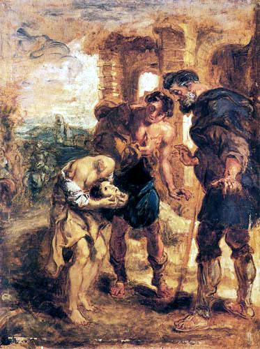 Eugene Delacroix - Das Wunder des hl.Justus von Beauvais, nach Rubens