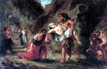 Eugene Delacroix - Hercules and Alcestis
