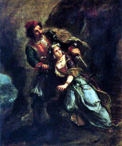 Eugene Delacroix - Selim und Suleika