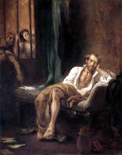 Eugene Delacroix - Tasso im Irrenhaus