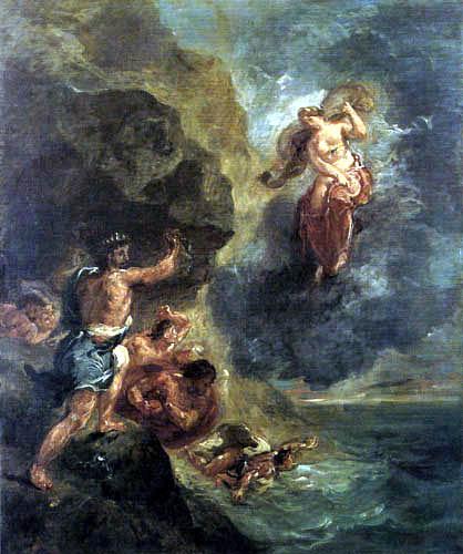 Eugene Delacroix - Winter: Juno and Aeolus