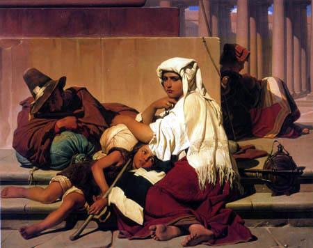 Paul Delaroche - Pilgrims in Rome