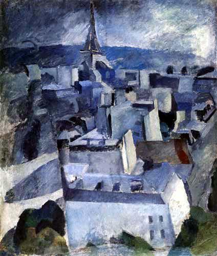 Robert Delaunay - The City, Study