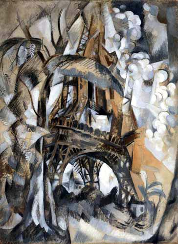 Robert Delaunay - Eiffel Tower with Trees