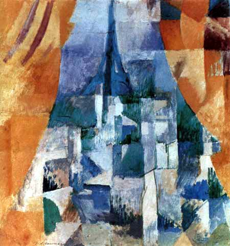 Robert Delaunay - Window with orange curtains