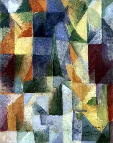Robert Delaunay - Fenêtres ouvertes simultanément, 1. partie, 3. motif