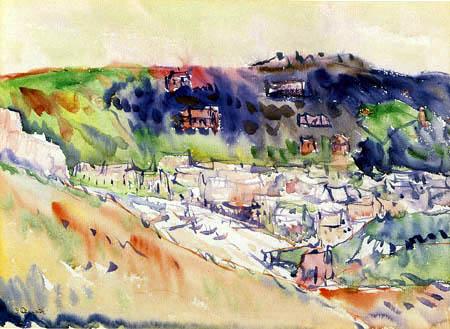 Charles Demuth - Coastal scene